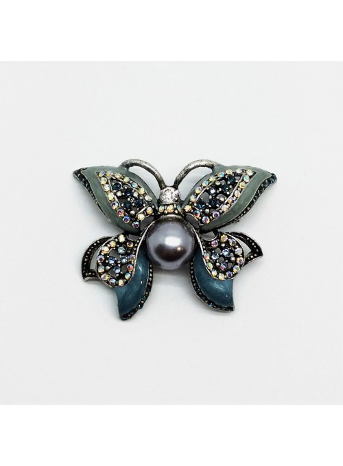 Brosa Fluture cu Perla