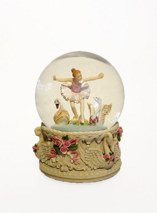 Glob Muzical Balerina cu Lebede