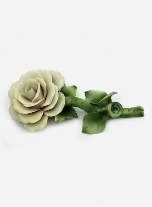 Trandafir alb din portelan Capodimonte