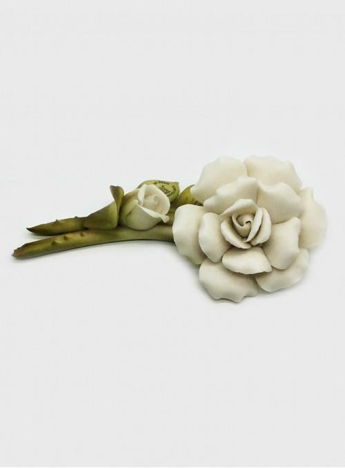 Trandafiri albi din portelan Capodimonte F426W