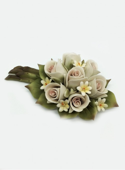 Buchet trandafiri din portelan Capodimonte