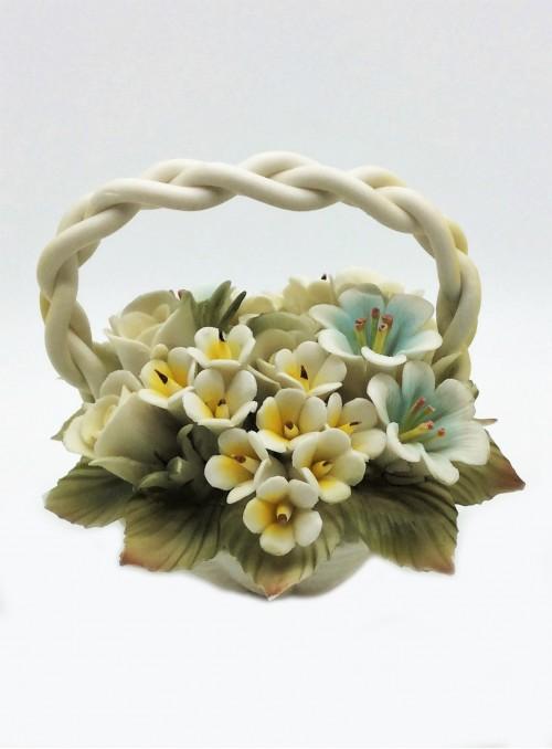Cosulet flori din portelan Capodimonte