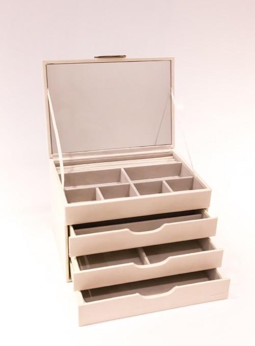 Cutie de bijuterii compartimentata
