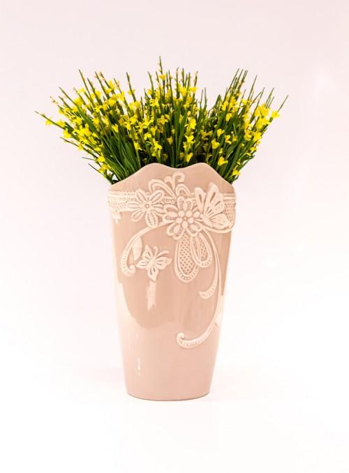 Vaza decorativa bej