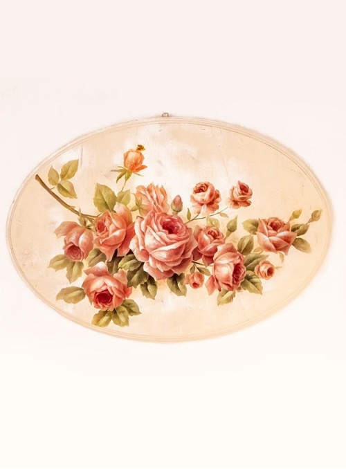 Tablou oval trandafiri