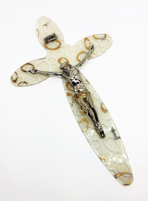 Cruce din sticla de Murano si argint